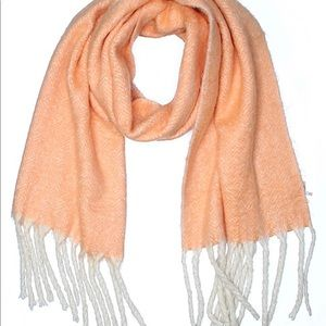 New oversized warm peach scarf free people